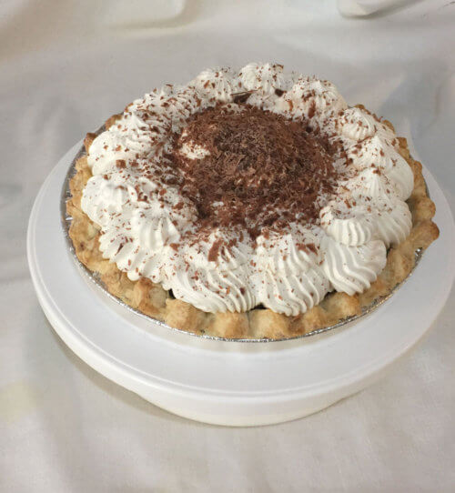 Gluten free chocolate cream pie